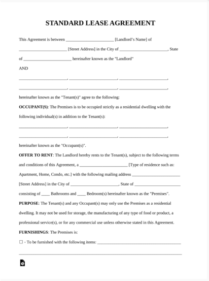 Simple Rental Lease Agreement Template If You Are Looking For A Basic Standard Or Simple Lease Agreement Free Printable Lease Agreement Room Rental Agreement