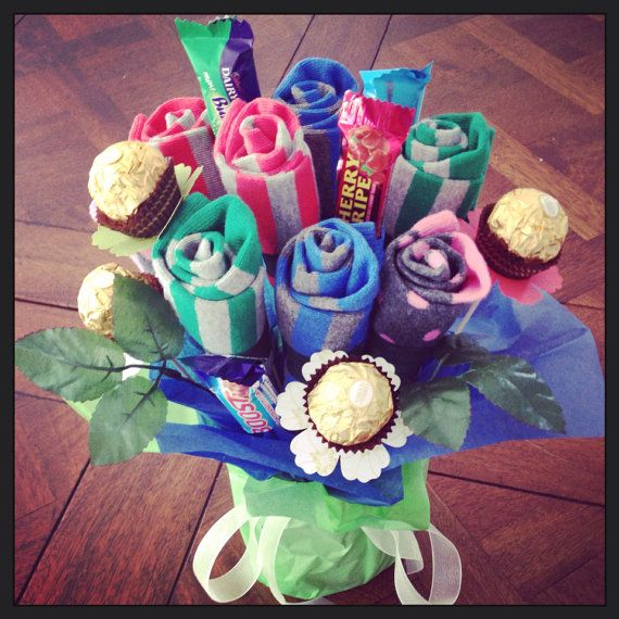 Chocolate And Sock Bouquets Edible Bouquet Mothers Day Special