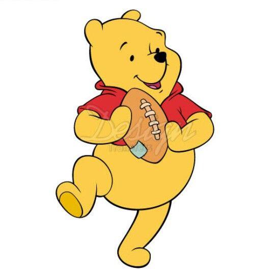 Pooh bear football  Winnie the Pooh  Pinterest  Pooh bear