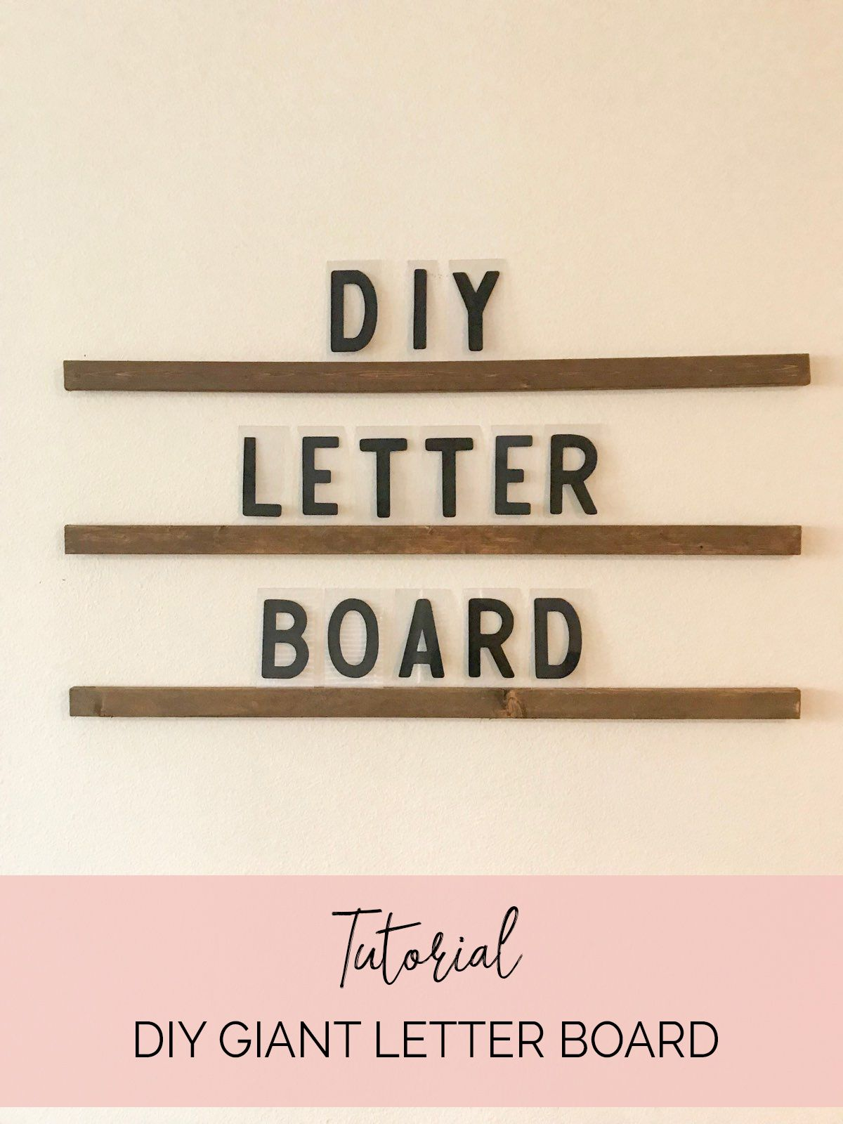 Diy Giant Letter Board