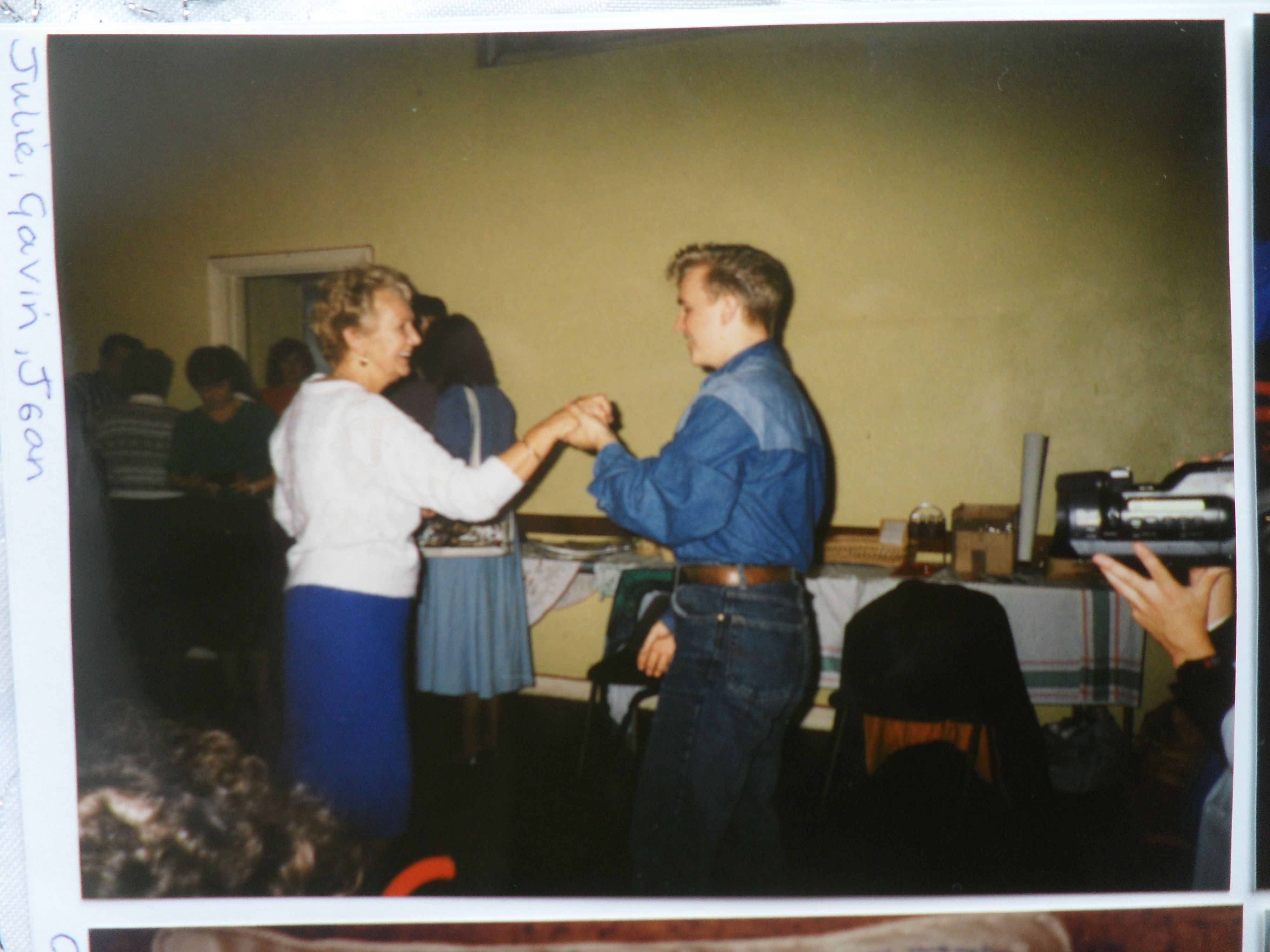 Billy's Mum, Jean Wycherley dancing with Gavin Stanley (Billy Tribute Artist) -  around 1995?