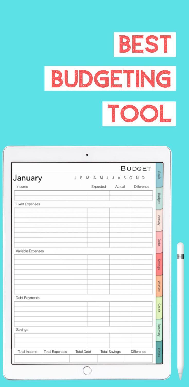 Digital Budget Planner Personal Finance Budget Budgeting Tools Budgeting