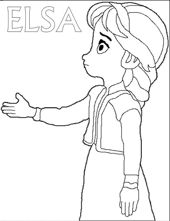 Disney Frozen Young Elsa Coloring Page 17 Preview Disney Princess Coloring Pages Elsa Coloring Pages Disney Coloring Pages