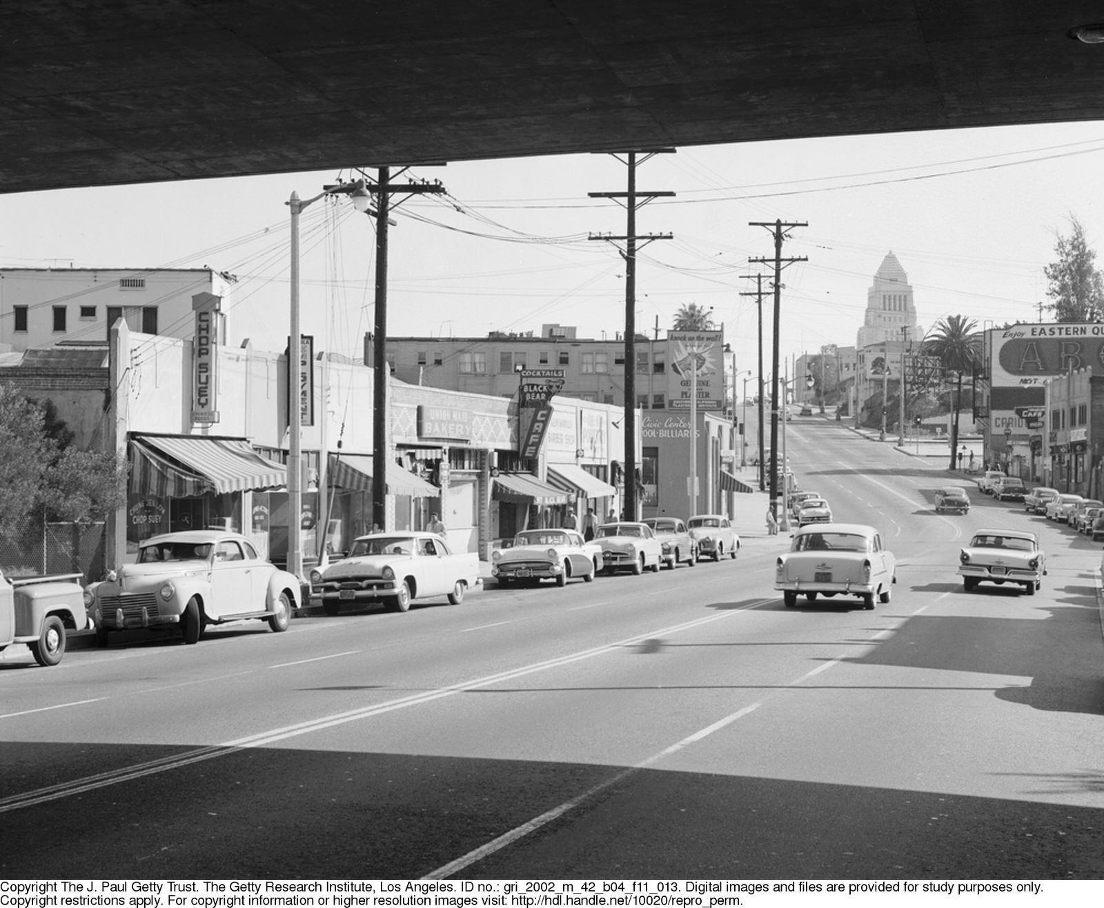 Looking East On Temple Ca 1957 California History Los Angeles History Long Beach California