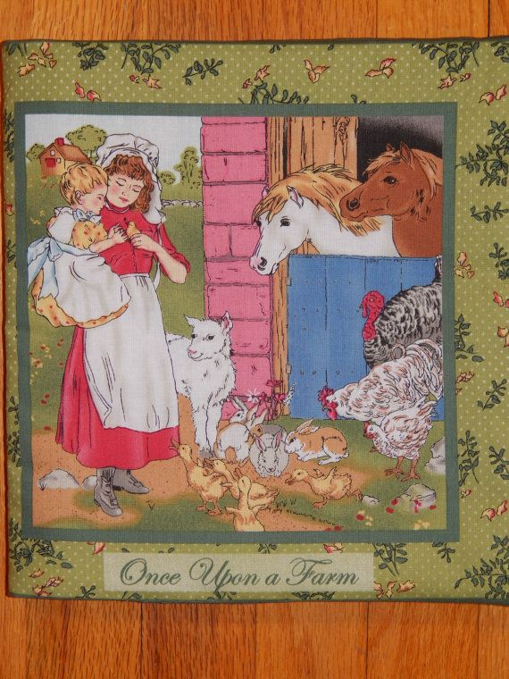 Once Upon a Farm Children's Cloth Book by CraftingByTheWayside