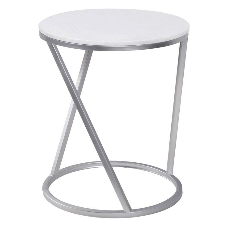 Quartz Silver Accent Table Lg In 2020 Table Affordable