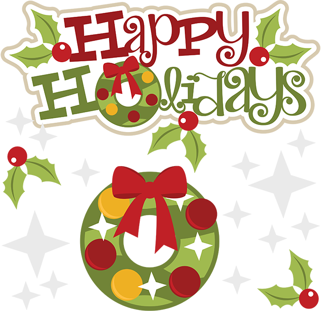 happy holidays svg holidays svg file holidays clipart cute clip art rh pinterest com happy holidays clip art pictures happy holiday clipart