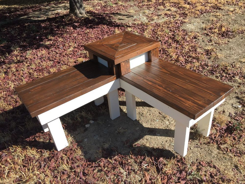Diy Corner Bench With Built In Table Pallet Furniture Outdoor
