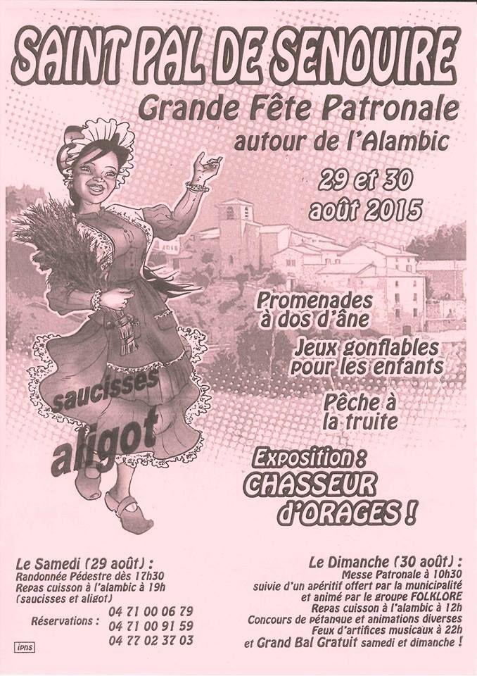 Fête patronale 29 et 30 août 2015 - Saint-Pal-de-Senouire