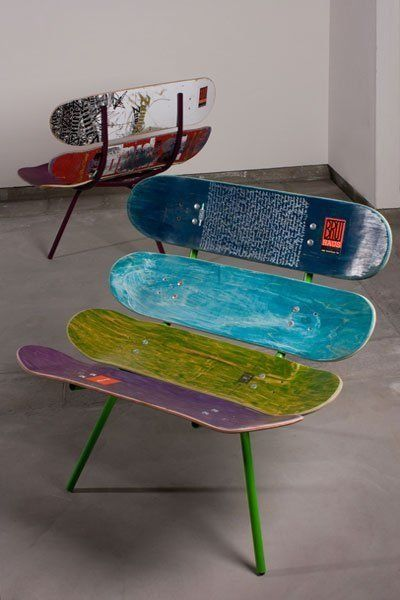 Cool Diy Hipster Skateboard Chair Skateboard Furniture Skateboard Room Diy Furniture