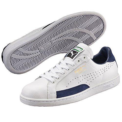 Puma Jungen Sneaker, Weiß - Bianco (White/Peacoat) - Größe: 38.5