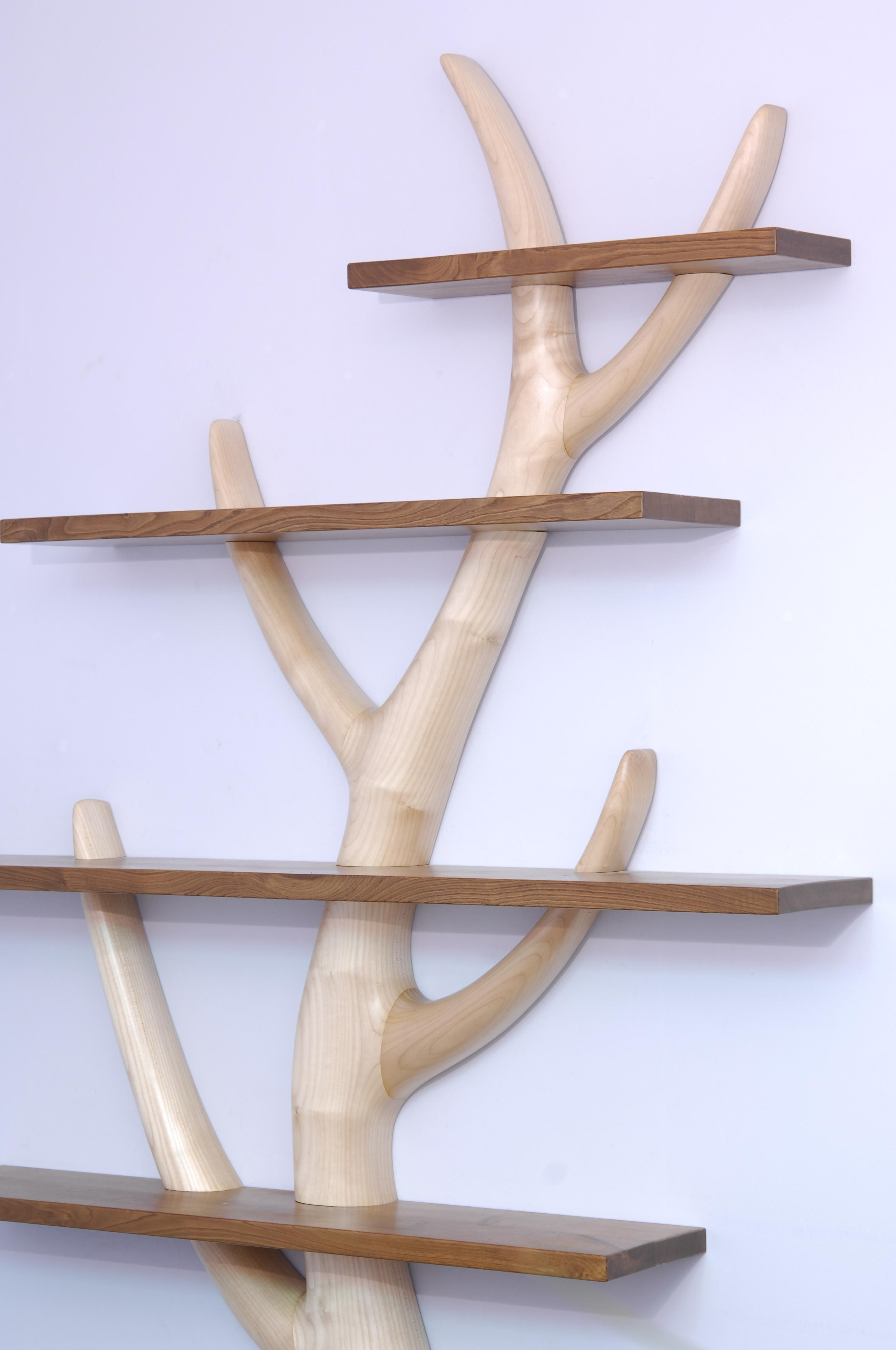 tree bookshelf in sycamore and chestnut petes nightmares