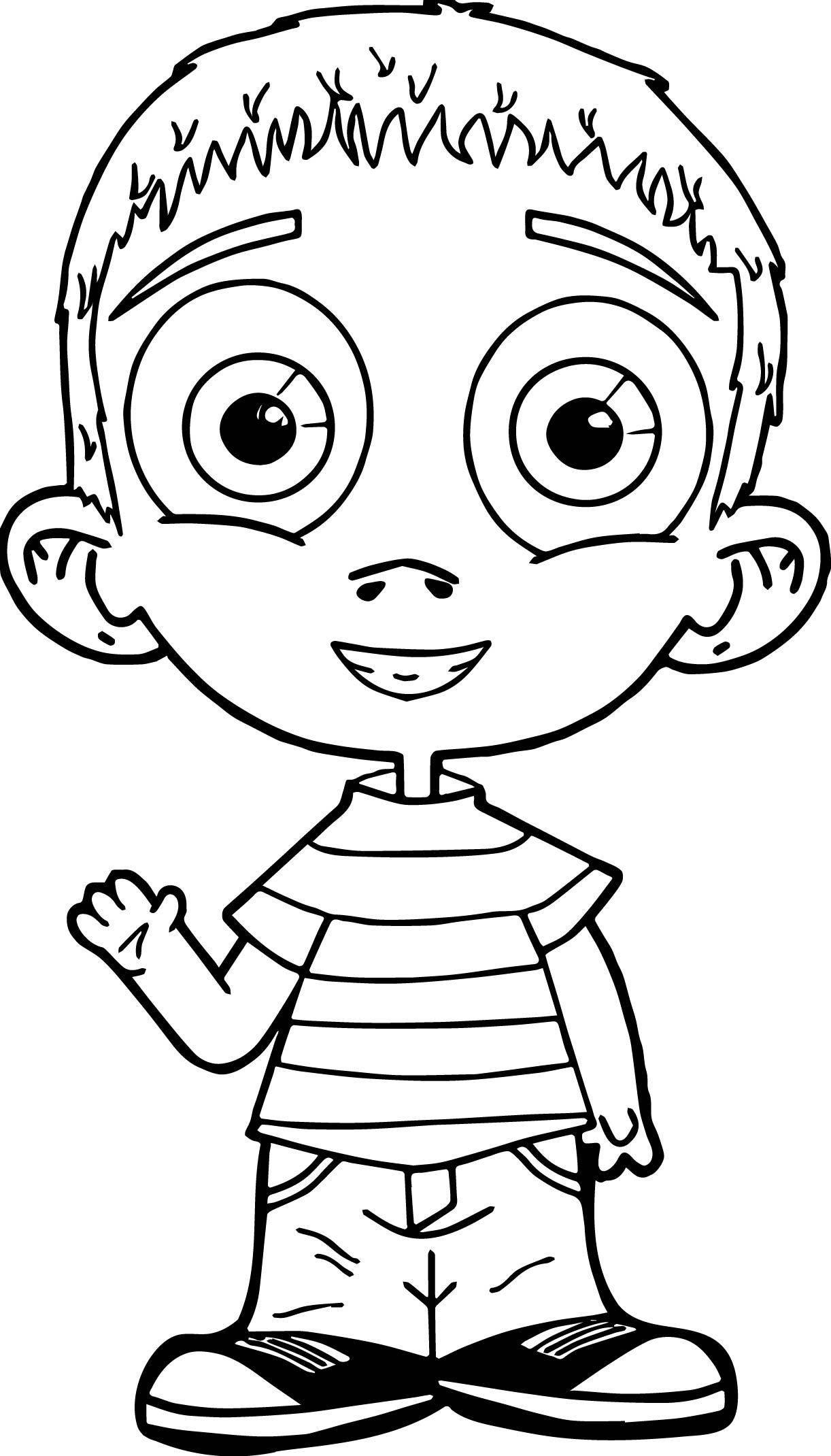 Nice Child Kids Coloring Page