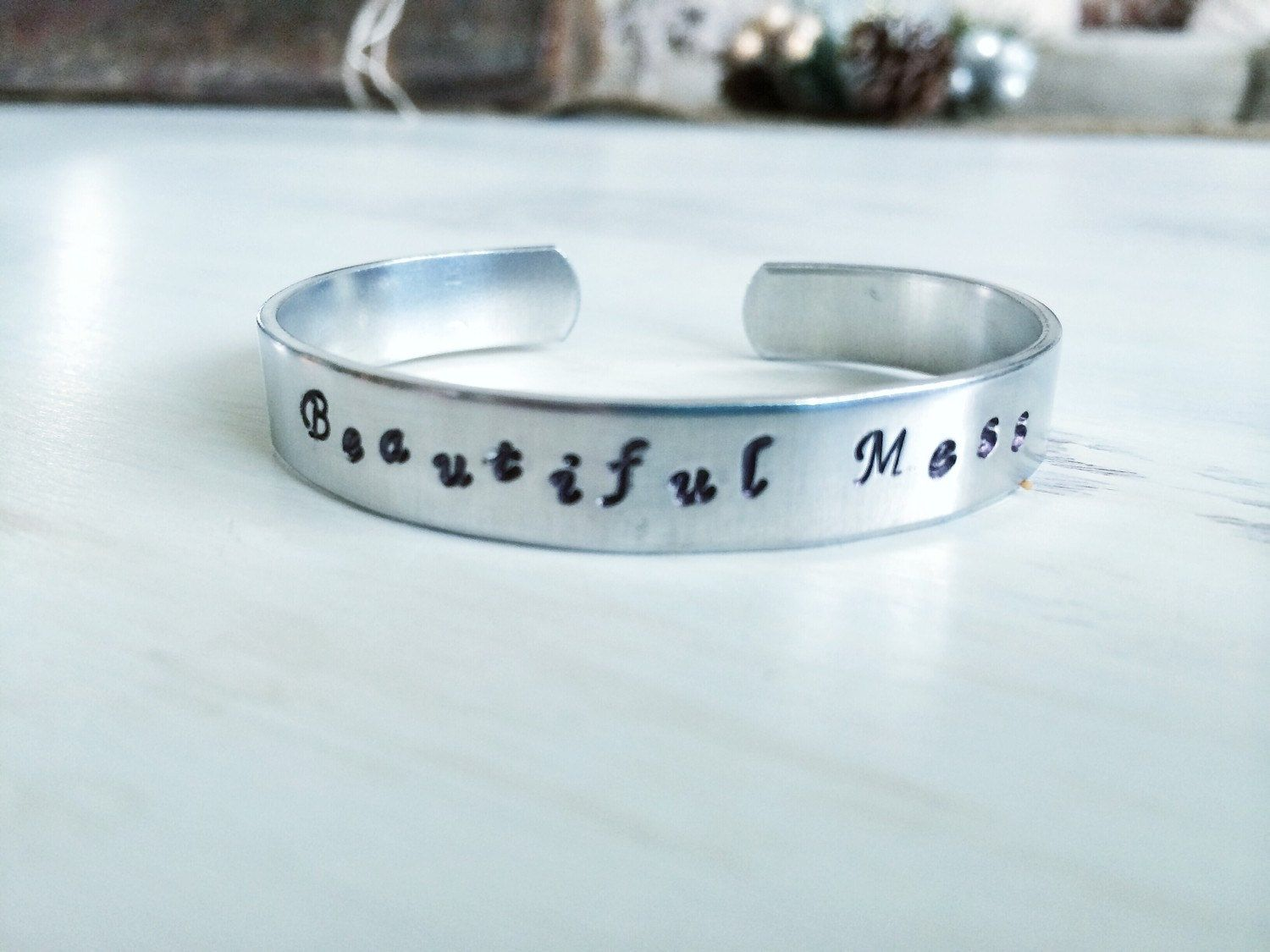 Beautiful Mess Hand stamped jewelry