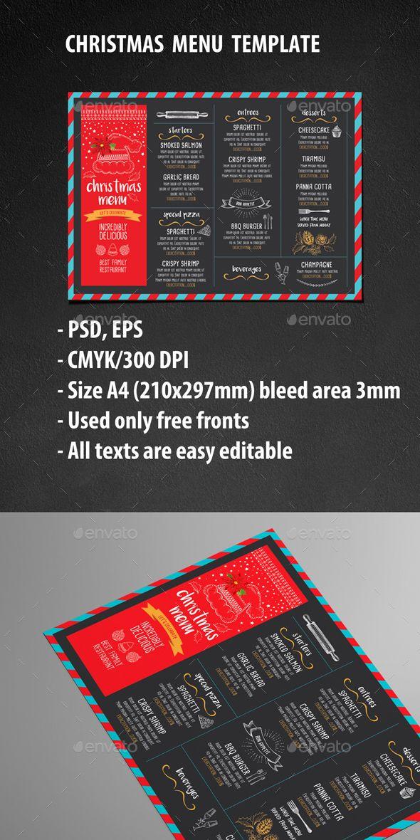Christmas Menu Restaurant Menu restaurant, Menu and Menu templates - free xmas menu templates