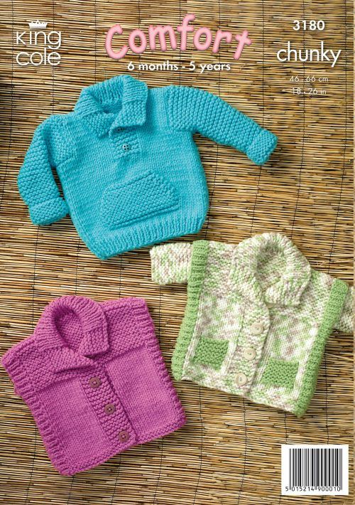 Childrens Knitted Sweater Gilet And Jacket King Cole Baby Sets