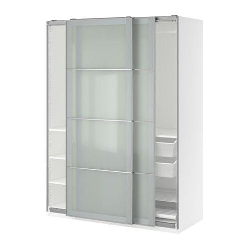 PAX Kleiderschrank, weiß, Sekken Frostglas | Pax wardrobe, Ikea pax ...