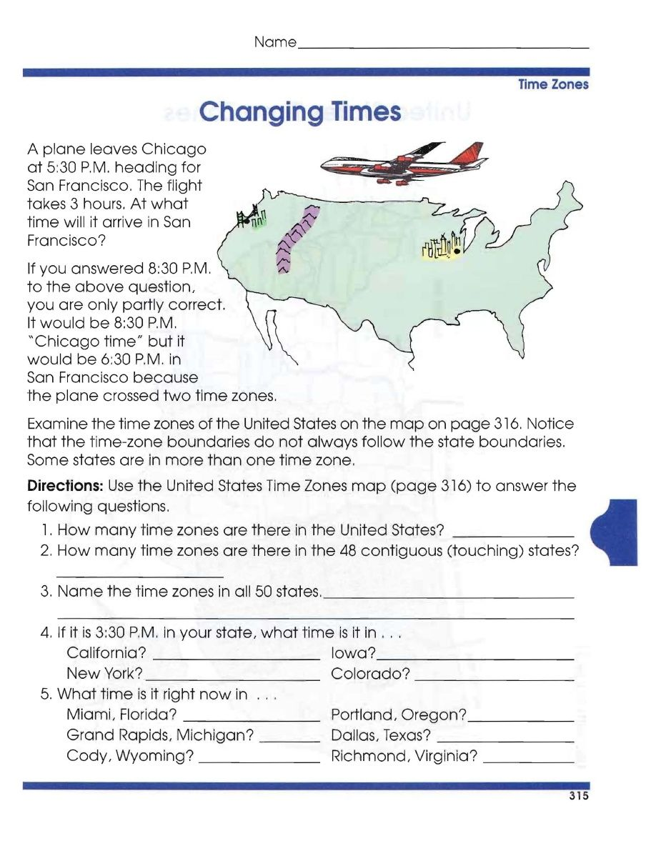 Critical Thinking Activities For Fast Finishers And Beyond Using - Map of us time zones texas