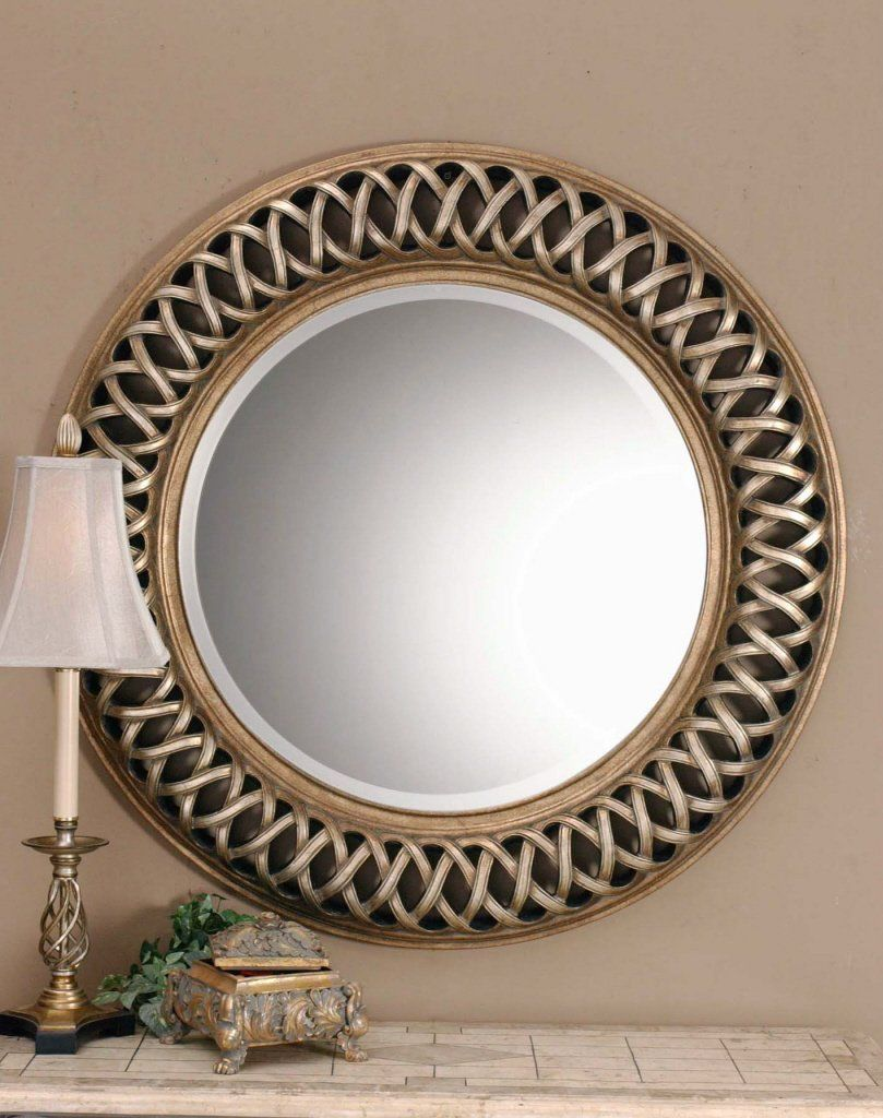 Amazon Com Extra Large Celtic Knot Round Wall Mirror Silver Gold