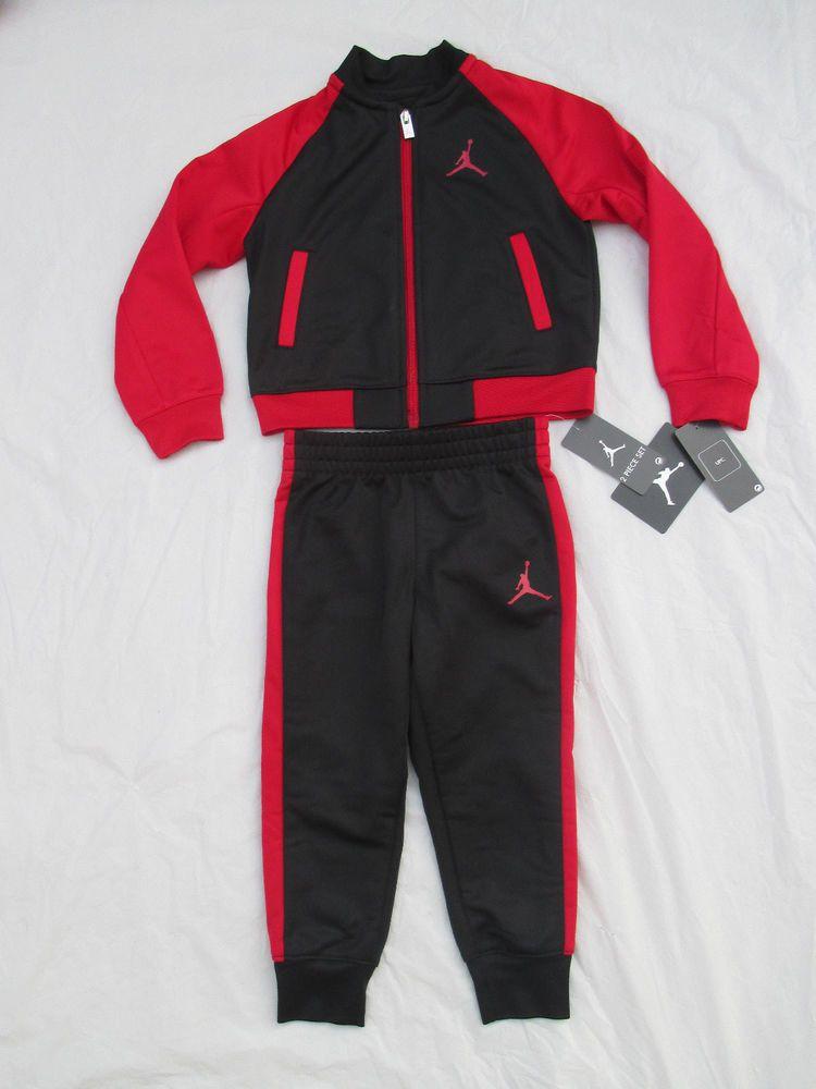 f76a26d62a1f Nike Boys Michael Jordan Black Red Tracksuit 2 Piece Set 754898 Size Newborn-5T   NikeMichaelJordan  CasualFormalParty