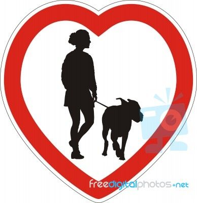 Symbol Of Space For Walking Dogs By Vlado At Freedigitalphotos