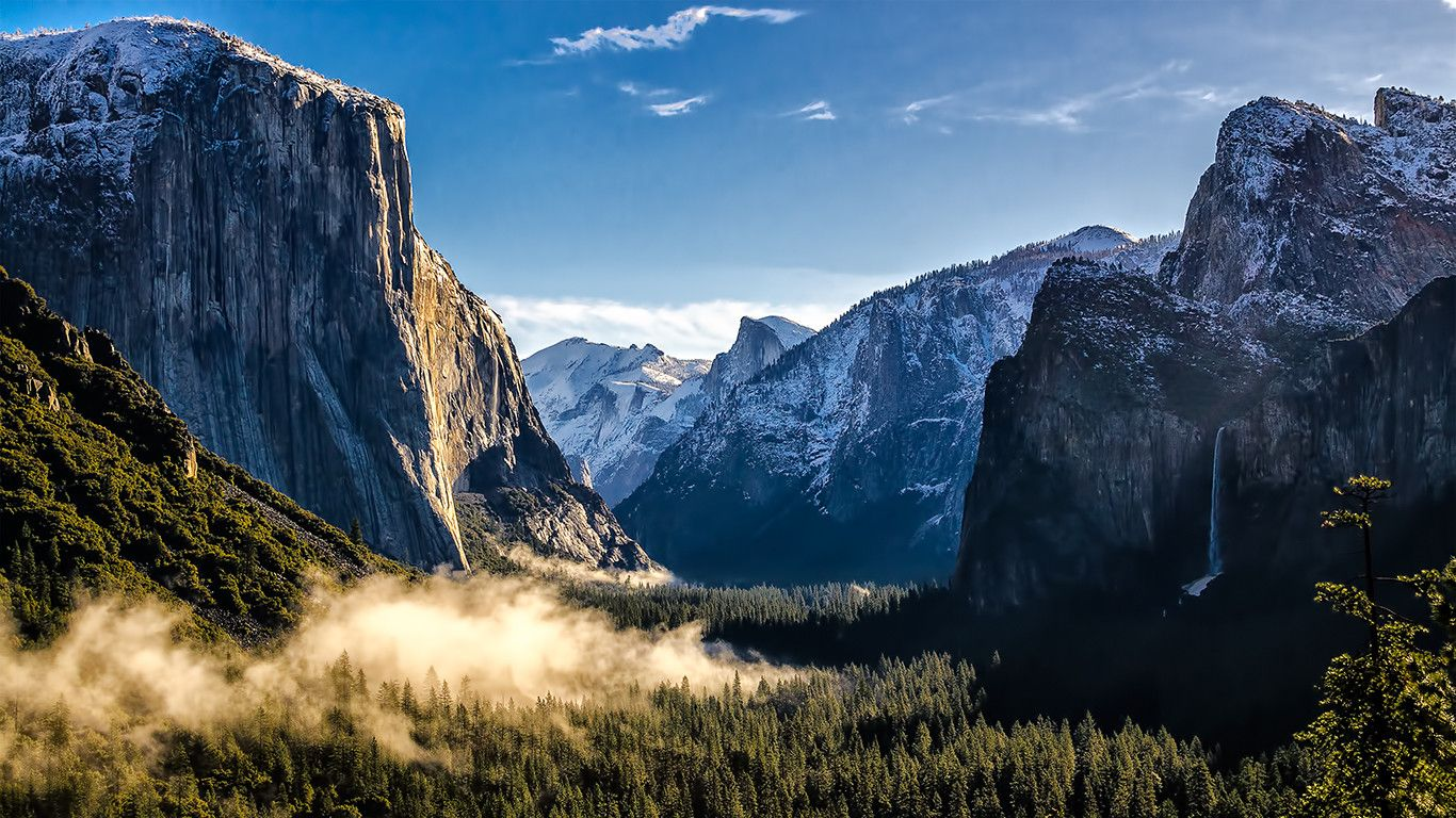 Yosemite National Park 1366x768 Yosemite Wallpaper Yosemite Mountains National Parks