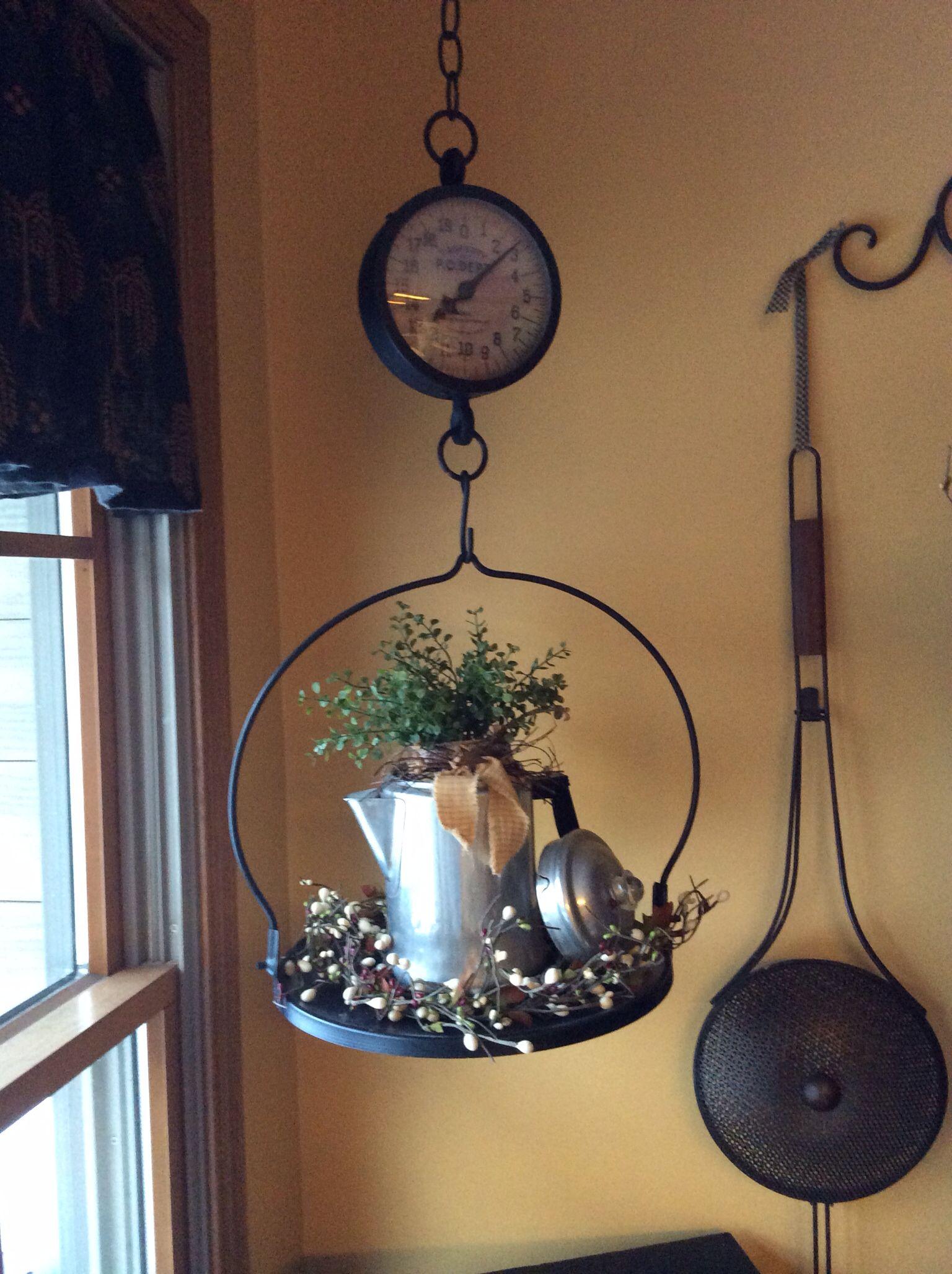 Primitive Hanging Scale Primitive Decor Kitchen Ideas