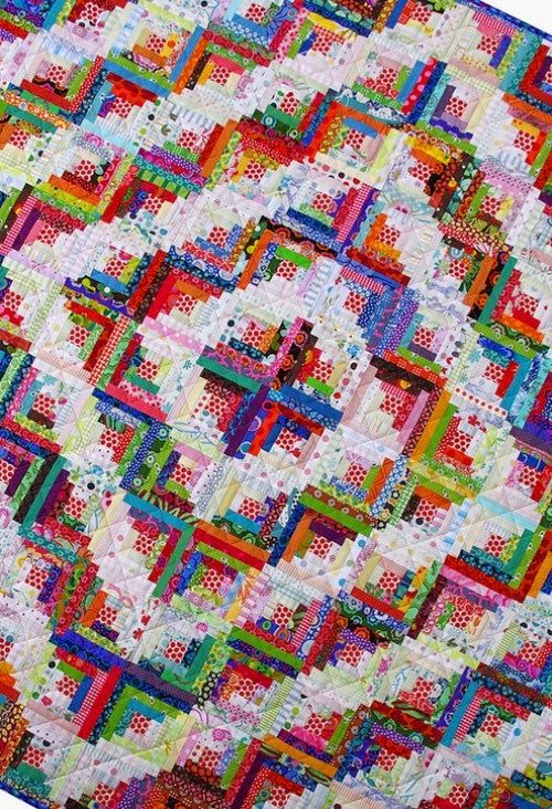 Quilting Patterns And Tutorials Scrappy Log Cabin Quilt Scrappy