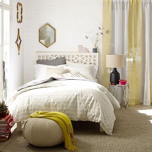 Morocco Bed White Bedroom Decor Dark Chic Bedroom Decor