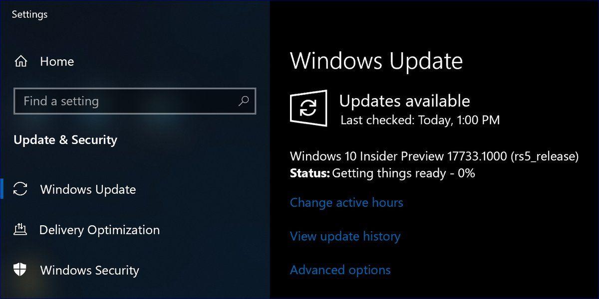 Windows 10 Build 17733 Introduces Instant Dark Windows ...