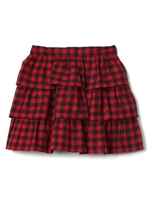 f2b820ddab Gap Baby Print Tiered Flippy Skirt Buffalo Plaid | Products | Flippy ...