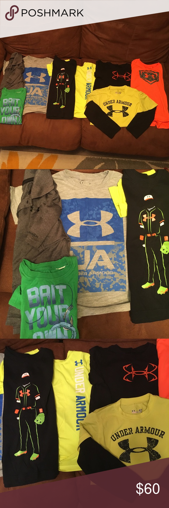 Boys Under Armour shirts Eight boys Under Armour shirts. Most are in excellent condition and the others would make good play clothes. All size 4 and 4t. Under Armour Shirts & Tops Tees - Short Sleeve