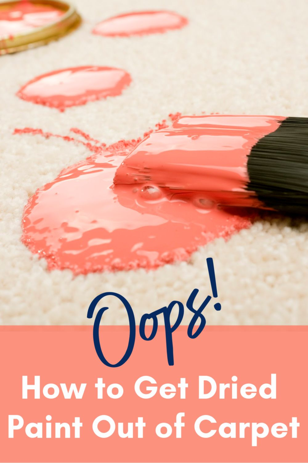 How To Get Dried Paint Out Of Carpet And Other Crazy Stains Painting Carpet How To Clean Carpet Painting