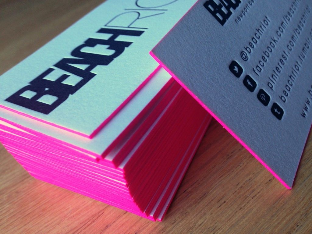 Back to Business: Beach Riot   Hot pink, Business and Business cards