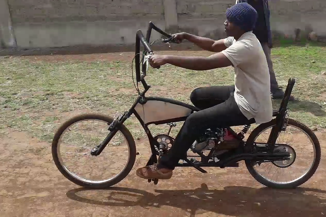 Kenyan Made Motorized Chopper Bicycle With Images Bicycle