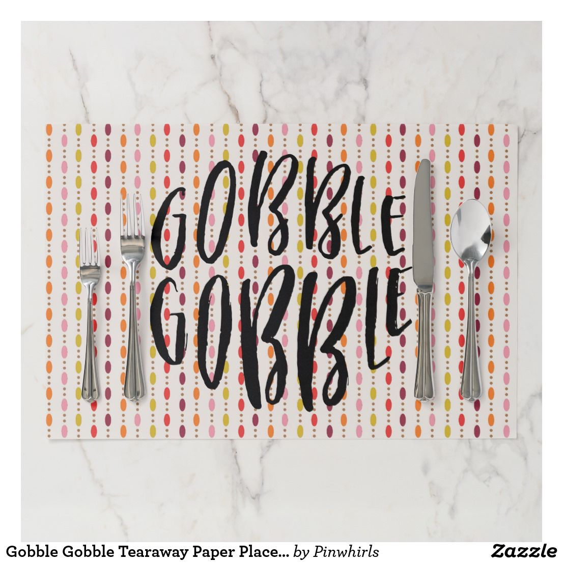 Gobble Gobble Fall Multi Color Ovals Paper Placemat Zazzle Com Thanksgiving Placemats Thanksgiving Paper Placemats