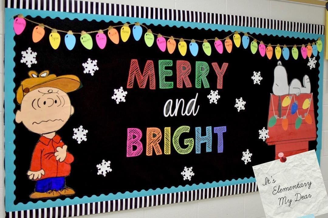 65+ Classroom decor for Christmas to bring in the holiday cheer Merry Happy Decoration.