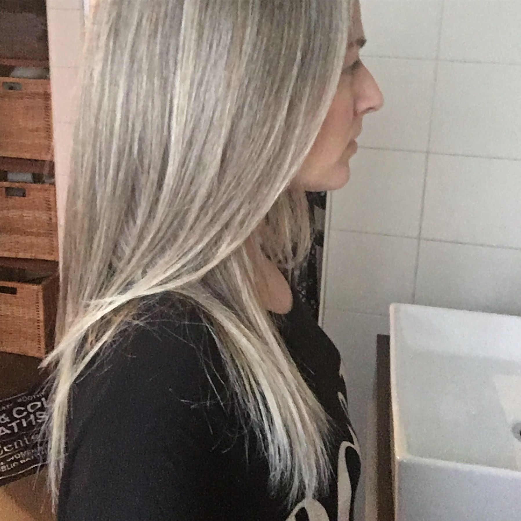 Grey Is The New Blonde Silver Highlights In My Grey Long And