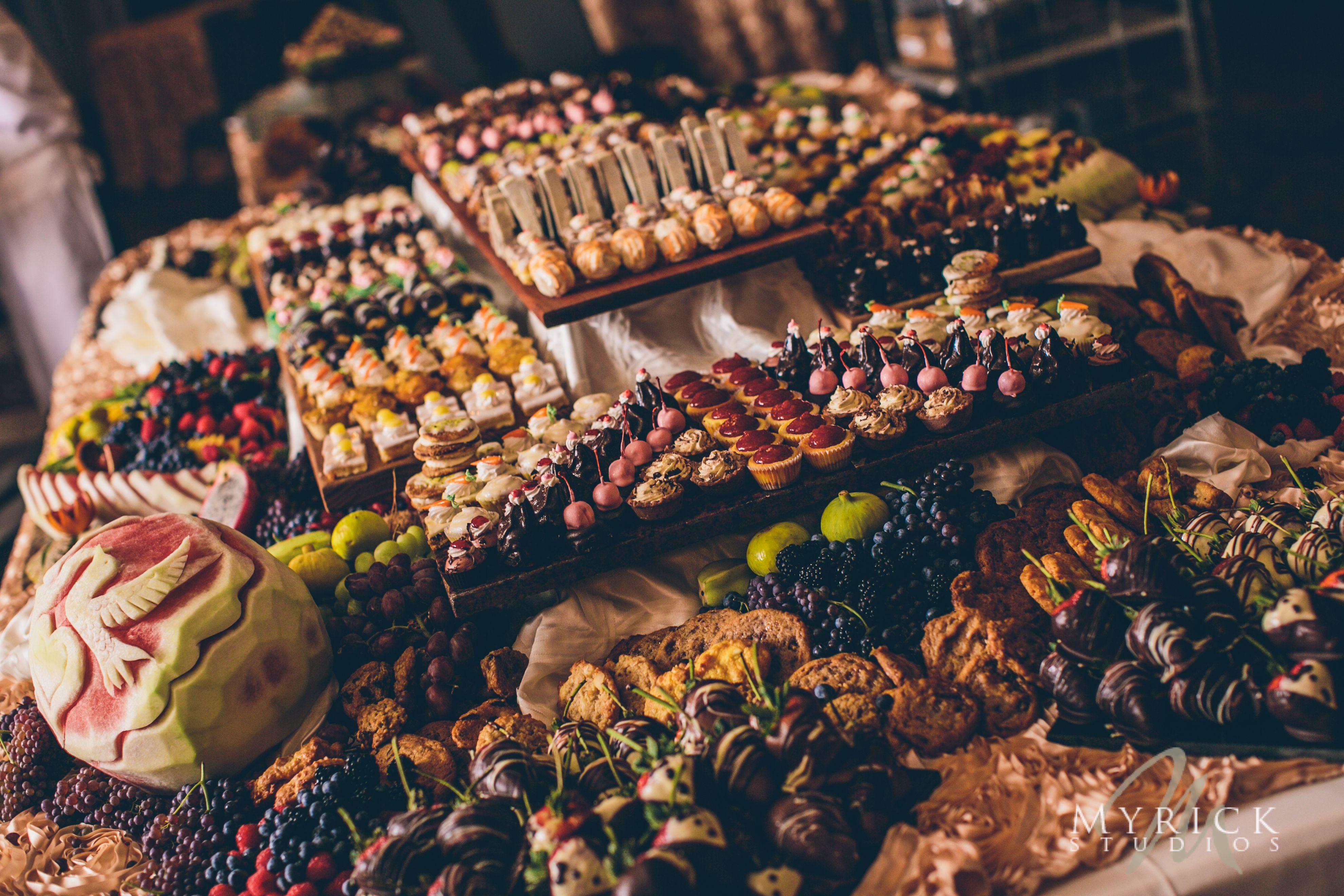Beautiful meadow brook hall sweets display food displays