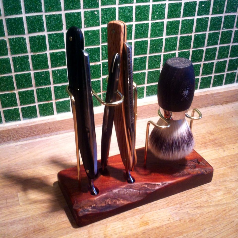 DIY stand for straight razor and brush Best shave