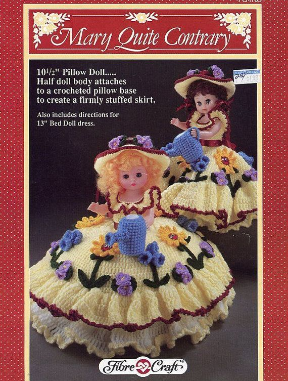 Mary Quite Contrary Fibre Craft Pillow Bed Doll Clothes Crochet