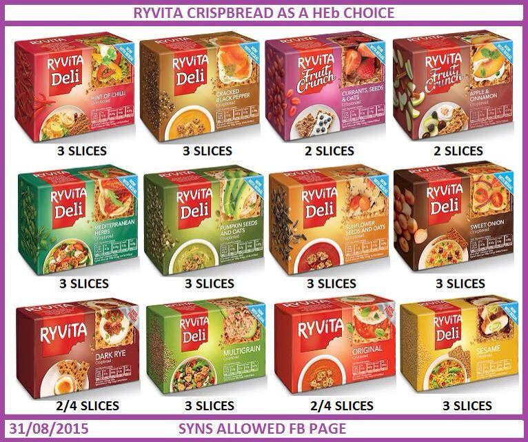 Ryvita Healthy Extra B Slimming World Pinterest