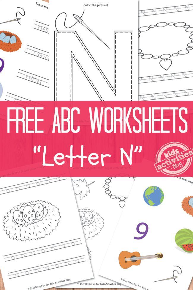 letter n worksheets free kids printable alphabet activities letter n worksheet letter n. Black Bedroom Furniture Sets. Home Design Ideas