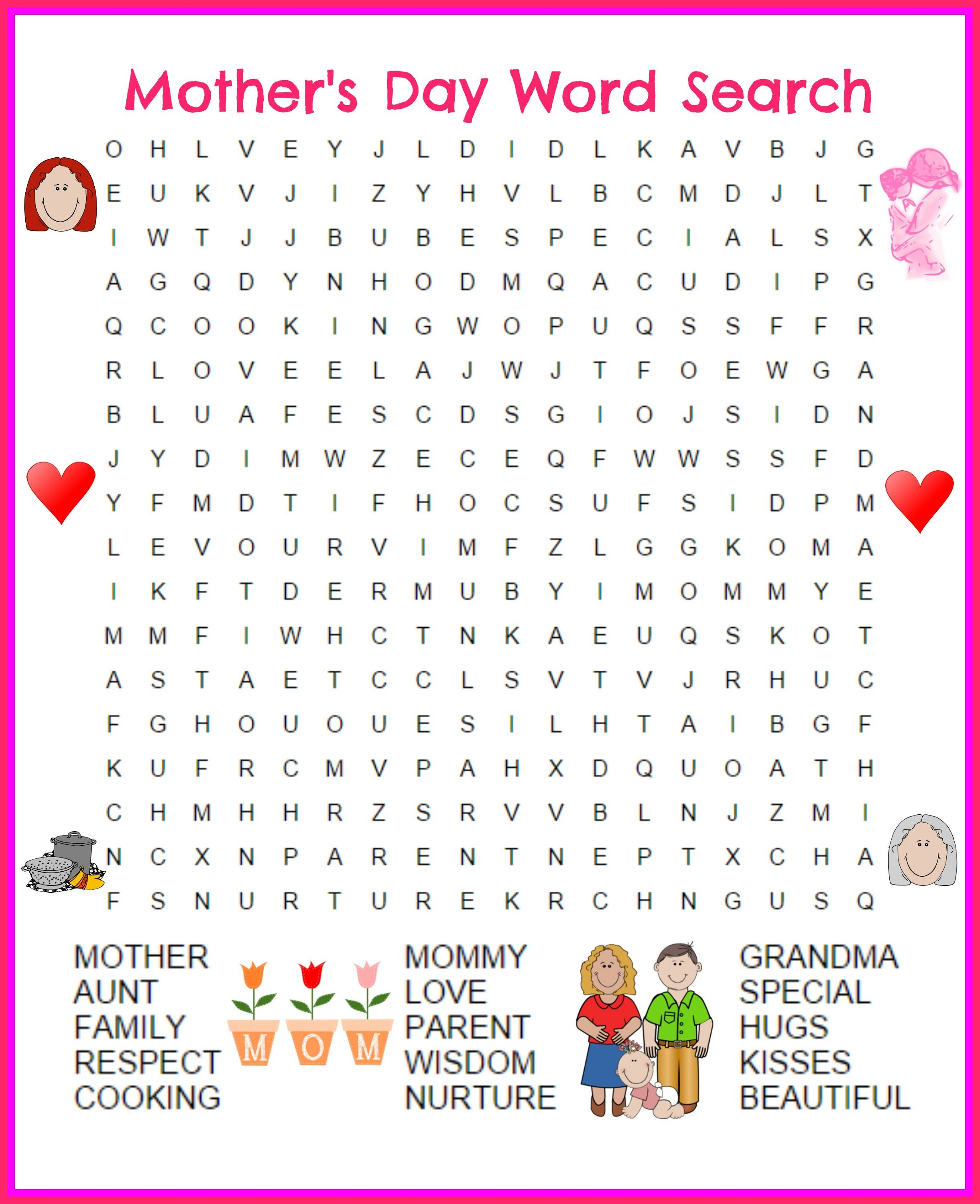 Great Day Word Search Printable