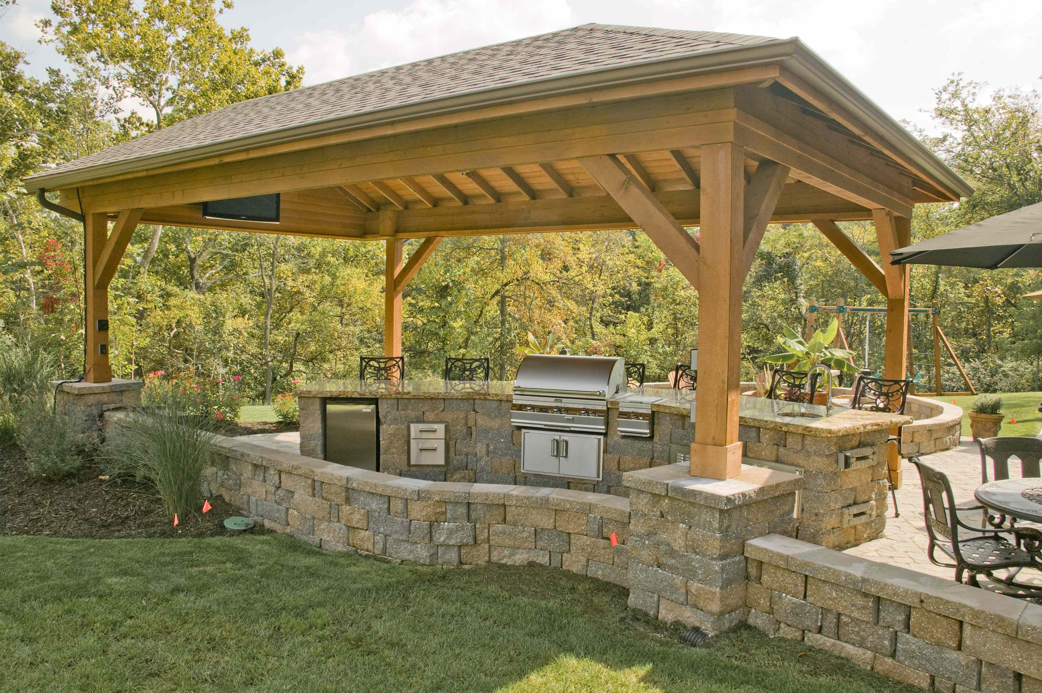 Covered Outdoor Grill and Bar | Outdoor oven, Outdoor ...