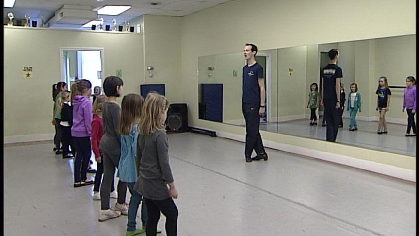 "Learning the moves from former ""Riverdance"" Performer John Grimes."