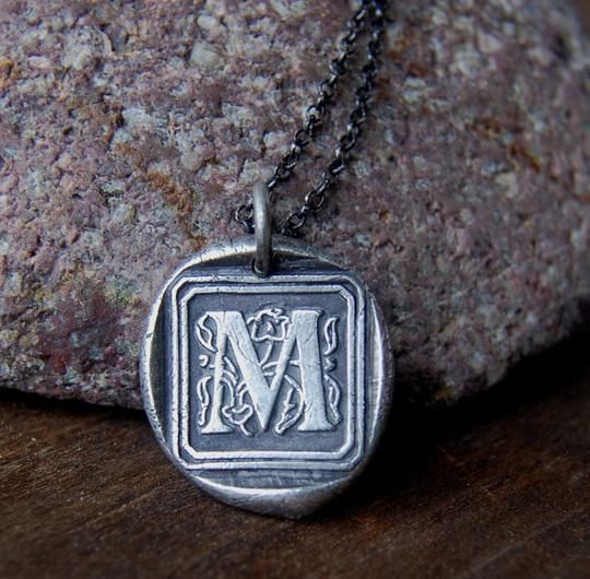 #Personalized #Wedding Wax Seal Initial Necklace by FlirtandFlutter | Hatch.co