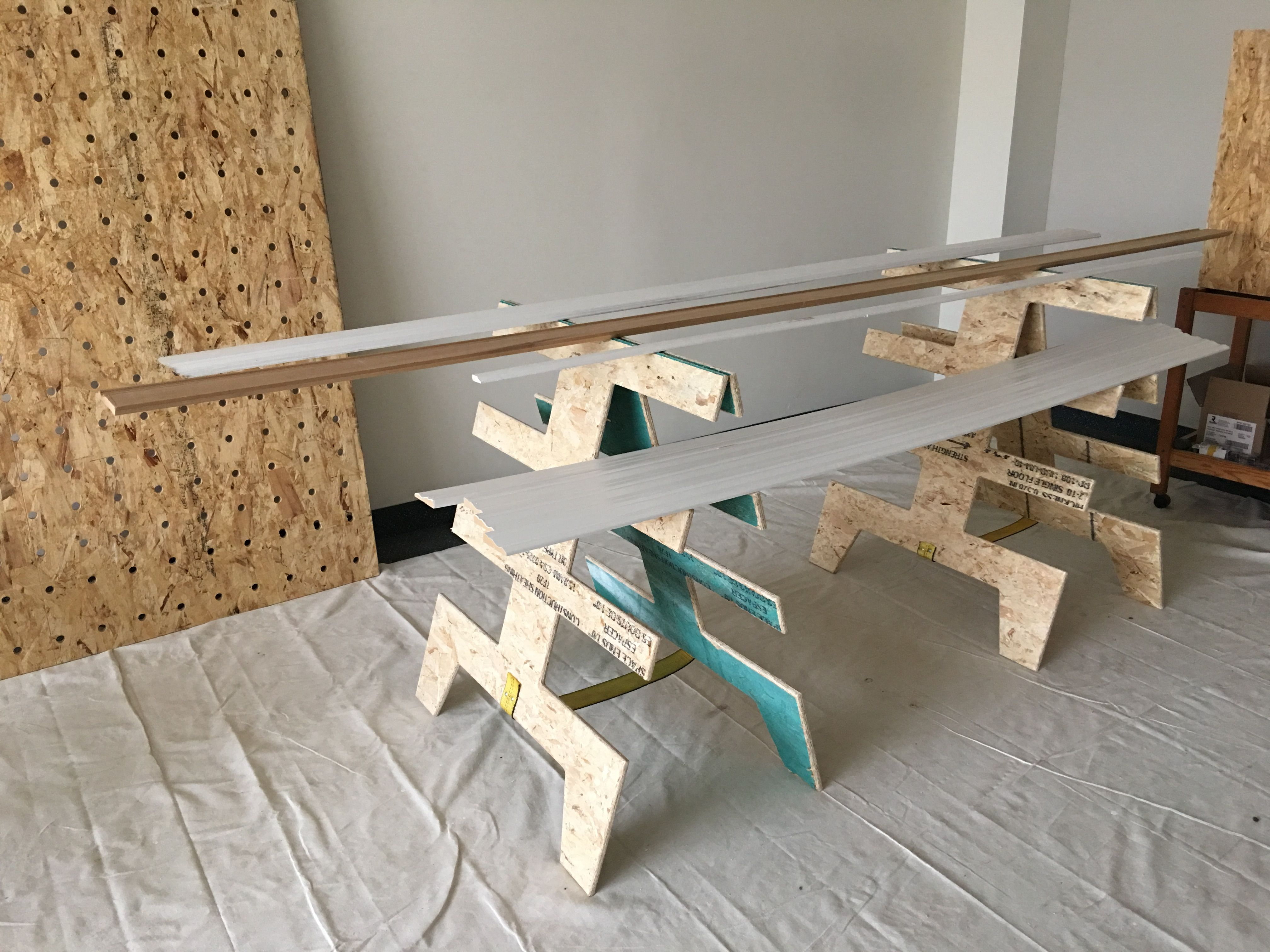 Paulk Inspired Trim Painting Stands Pre Painting Baseboards And Casing Saves Time With These Stands Lay Out The Painting Baseboards Painting Trim Baseboards