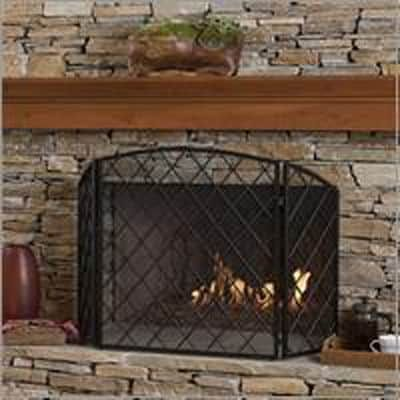 Amiyah Fireplace Screen Black is part of Country Home Accessories Fireplaces -
