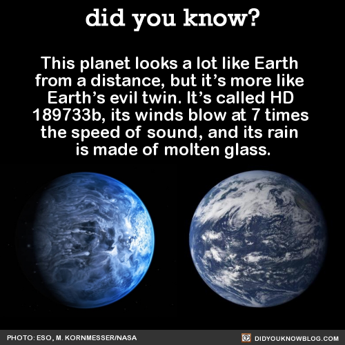 This planet looks a lot like Earth from a distance, but it ...